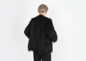 Ecofur Coat 20 Half (Black)